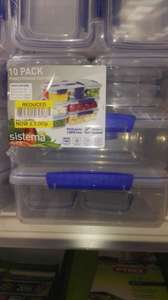 Sistema Klip It Pack of 10 Food Storage Containers - £3 instore at Tesco