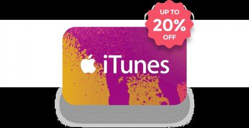 Apple iTunes eGift Cards 20% off £12 @ Zeek