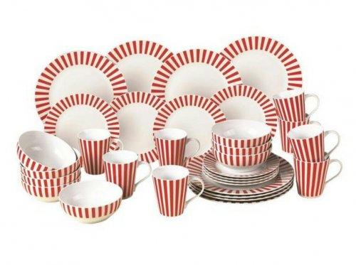 WATERSIDE Stripe 'KFC inspired' 32-Piece Dinner Set for £29.99 @very