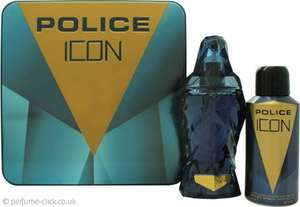 Police Icon Men's Gift Set 125ml EDP + 150ml Deodorant Spray £15.20 inc delivery from Perfume-Click.co.uk
