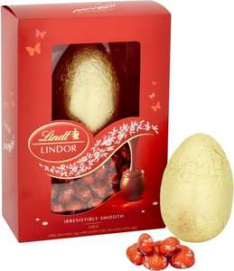 Lindt Lindor Egg with Mini Eggs (215g) was £7.00 now £3.50 @ Morrisons