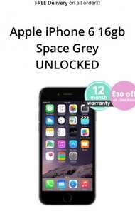 Refurbished Apple iPhone 6 16gb Space Grey UNLOCKED extra £10 off £209 @ Music Magpie
