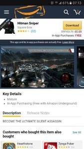 Hitman Sniper Android Full Game - FREE from Amazon Appstore with FREE in-app purchases