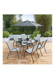 Province 8 piece outdoor dining garden set was £349.99 now £198.98 delivered @ Very