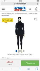 WaiKoa Darwin Full Body Swimsuit Ladies, burkini now £13.99 + £4.99 delivery at sportsdirect