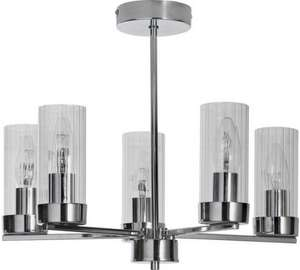 Heart of House Wallis 5 Light Glass & Chrome Ceiling Light @ Argos £23.99 Free Click & Collect