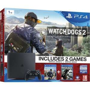 PS4 Slim 1tb plus Watch dogs £249 1 and 2 at Zavvi