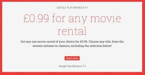 £0.99 for any movie rental - Google Play Movies (possibly account specific)