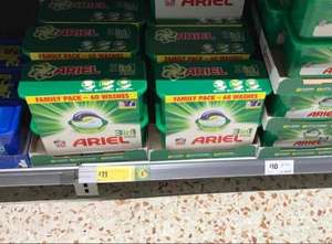 Ariel 60 capsules £11 from Morrisons