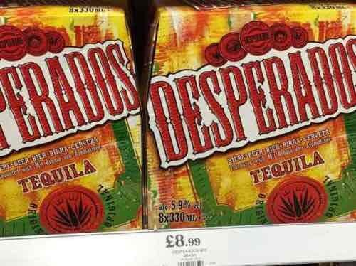 Desperados 8x330ml bottled alc. 5.9%  8.99 @ Home Bargain