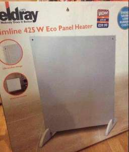 beldrey slimline panel heater B&M £10 from £39.99  rrp £79.99