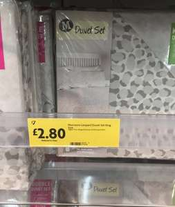 King Size Duvet Set £2.80 and various other bedding items are less than half price @ Morrisons instore