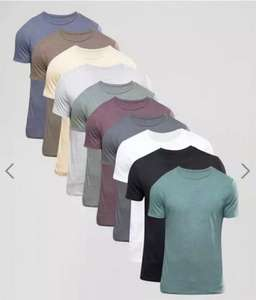 ASOS - 10 Pack T-Shirt With Crew Neck £25.50