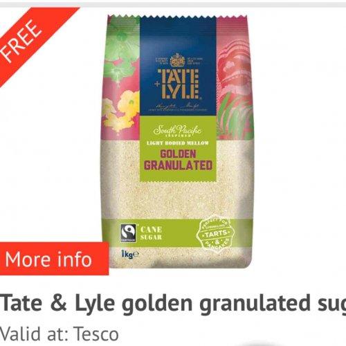 Free via CheckoutSmart Tate & Lyle Sugar (£2.00 at Tesco) - 25/04/17