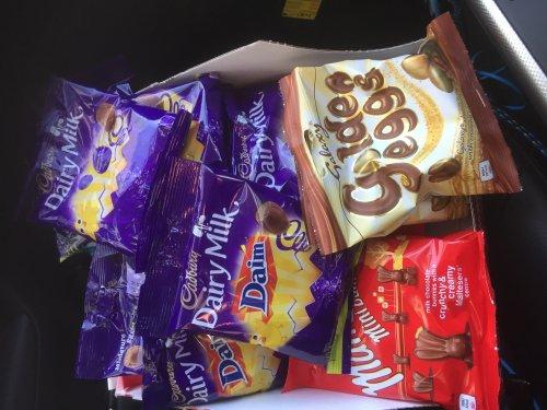 Dairy mini eggs and galaxy mini golden eggs and malteaster mini bunnies only 10p at sainburys
