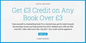 £3 off for any book over £3 - Google Play Books (probably account specific)