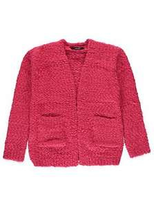 george asda red eyelash texture cardigan for girls £6 down from £12