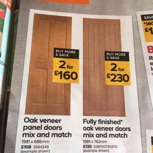 2 for 1 wardrobes - £160 @ b&q - reduced