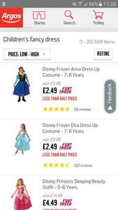 Childrens fancy dress costumes from as little as £2.49 at Argos