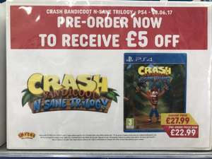 Crash Bandicoot [PS4] - Pre Order Price Confirmed £22.99 @ Smyths Instore