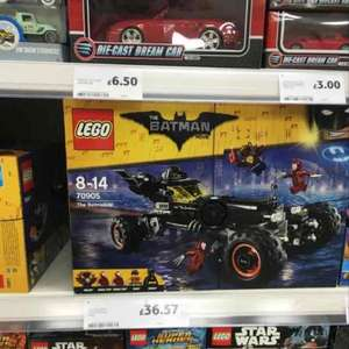 Lego Batman Movie 70905 The Batmobile £36.57 Tesco