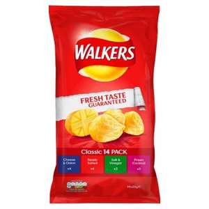 Tesco 14x pack Walkers Classic assortment £1.47 instore