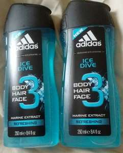 Adidas Ice Dive shower gel for body/hair/face 61p instore @ Superdrug