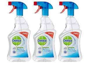 Dettol Anti-Bacterial Surface Cleanser, 750 ml - Original, Pack of 3 - £4.50 prime exclusive @ Amazon