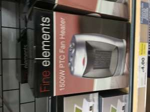 Fine Elements Heater was £19.99 now only £4.00 in store at Tesco (found Havant)