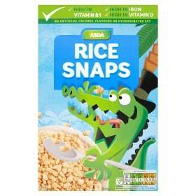 Asda Rice Snaps breakfast cereal 440g box reduced to 50p instore