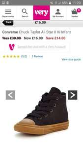 Converse Chuck Taylor All Star II Infant just £16 at VERY