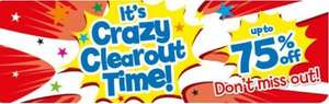 Crazy clearout on toys upto 75% off eg watches were £7 now £2.80, Paw Patrol mini racers were £6 now £3 - great party bag filler ideas @ The Entertainer