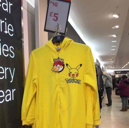 Mens Pokemon Onesie - £3instore @ Primark Chester