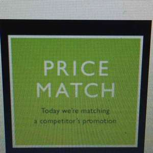 Today - John Lewis price matching competitor's promotions