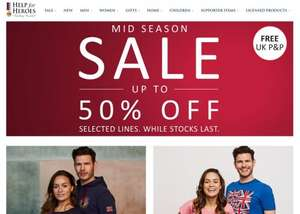Help for Heroes Mid Season Up to 50% off sale – Plus free postage!