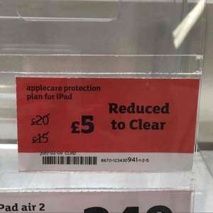 AppleCare for iPad - £5 Sainsbury's - Penzance