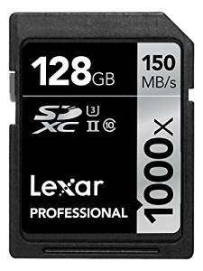 Lexar Pro 1000x SDXC 128GB on Amazon.fr - £42.93 delivered