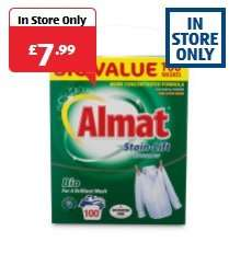 Almat 100 Washes Washing Powder (Bio, Non-Bio & Colour) 6.5kg, £7.99 In Store @ Aldi