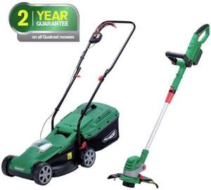 Qualcast Cordless Lawnmoeer And Grass Trimmer - 24V @ Argos £179.99 + 7%Quidco