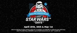 LegoLand Starwars Days - Kids Go Free this weekend 29th April - 1st May From £45