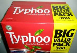 Ty-phoo teabags. Full strength. 300 pack.  £3 @ Iceland