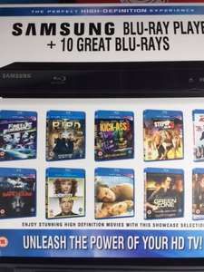 Samsung Bluray Player + 10 free Bluray Discs. Instore B&M Walsgrave Coventry, reduced to £39