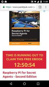"Free ""Raspberry Pi for Secret Agents"" book from Packt. Today Only."