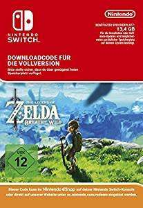 [Nintendo Switch] The Legend of Zelda Breath of the Wild Download code - £16.89 - Amazon.de