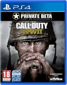 Call of Duty WWII PS4 or Xbox one (pre-order) £43 @ Tesco Direct