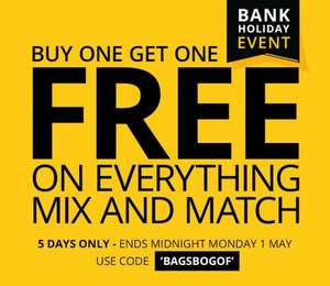 Buy one get one free suitcases from Bags Etc prices vary depending on budget