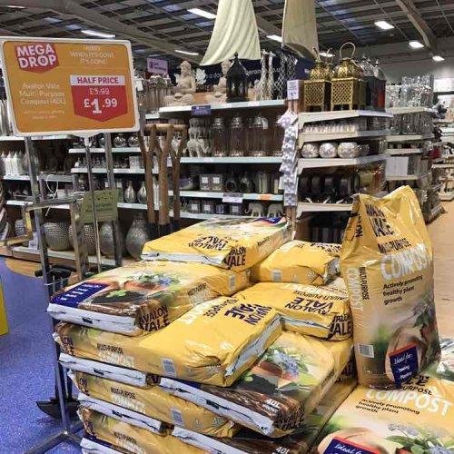 Multi Purpose Compost Half Price was £3.99 now £1.99 at The Range Bournemouth