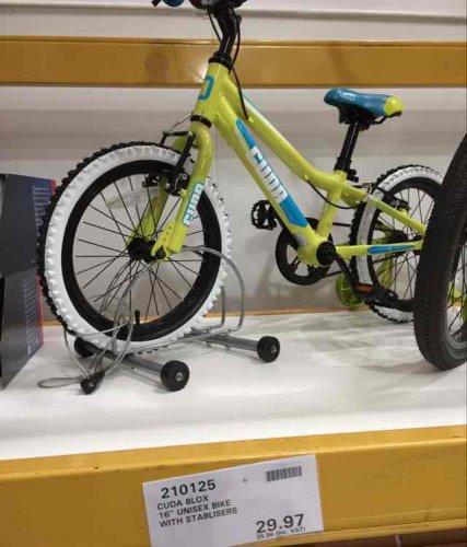 "CUDA BLOX 16"" unisex bike with stabilisers COSTCO - £35.96"