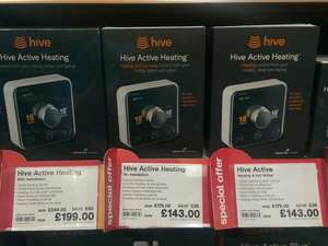 Hive active heating, with install £199 saving £50 compared to the usual cost £249 at Maplin