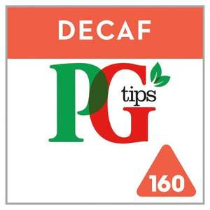 Pg Tips Pyramid Decaffeinated 160S Tea Bags 464G at Tesco for £2